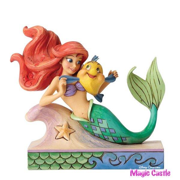 """ディズニー ジム・ショア フィギュア '""""Fun and Friends (Ariel with Flounder)'' リトル・マーメイド アリエルとフラン…"""