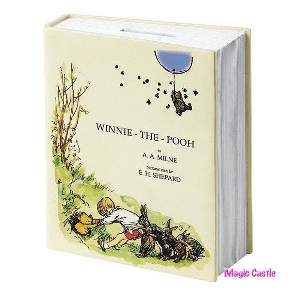 ディズニー 英国限定 90周年記念 くまのプーさん 貯金箱 Classic Pooh 90th Anniversary Book Money Bank