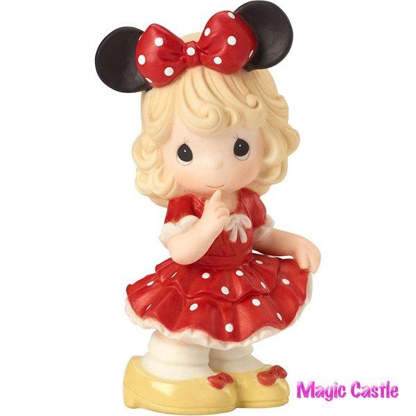 ディズニー プレシャスモーメンツ ミニーガール フィギュア Disney Minnie Mouse You Fill My World With Sunshi…
