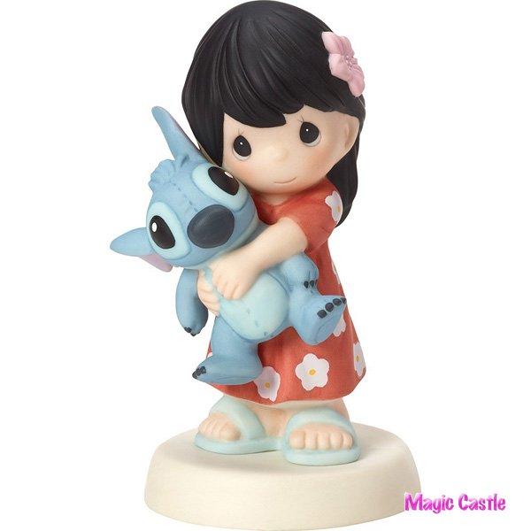 ディズニー プレシャスモーメンツ リロ&スティッチ  Girl with Stitch Doll - Ohana Mau Loa Means Family Forev…