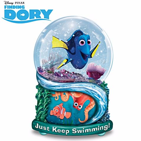 ディズニー スノーグローブ ファインディング・ドリー スノーグローブ FINDING DORY Glitter Globe With Movie A…
