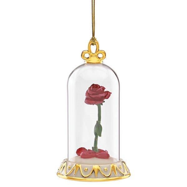 ディズニー 美女と野獣 ローズオーナメント Disney's Beauty & The Beast Rose Ornament by Lenox