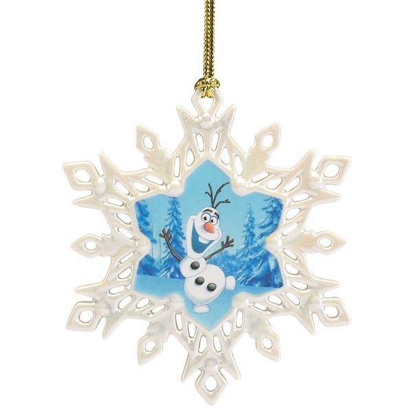 ディズニー オラフ スノーフレーク オーナメント Disney's Olaf Snowflake Ornament by Lenox