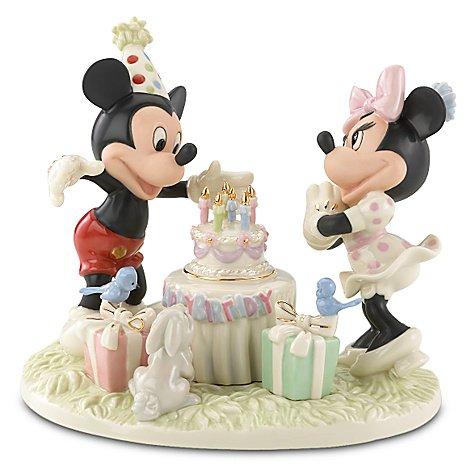 ミッキーの誕生日 ''Mickey's Birthday Celebration'' Minnie and Mickey Mouse Figurine by Lenox