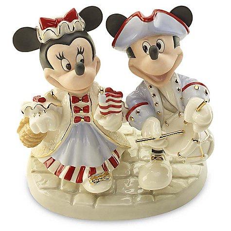 ミッキー&ミニーマウス パレード ''Patriotic Parade'' Minnie & Mickey Mouse Figurine by Lenox