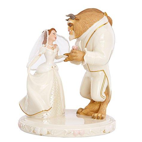 美女と野獣 ウェディングドリーム ''Wedding Dreams'' Beauty and the Beast Cake Topper by Lenox