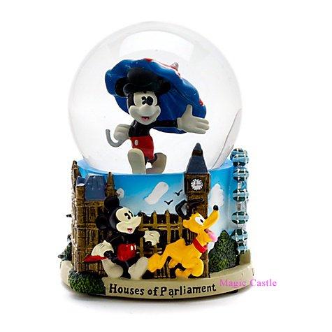 【在庫あり・即納可!英国限定】スノーグローブ ミッキーマウス ロンドン Mickey Mouse London Snow Globe