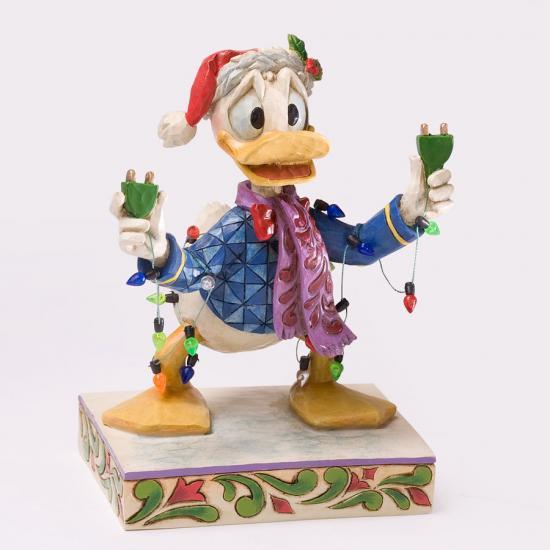 ディズニー ジム・ショア Jim Shore ドナルドとクリスマスライト Donald with Christmas Lights
