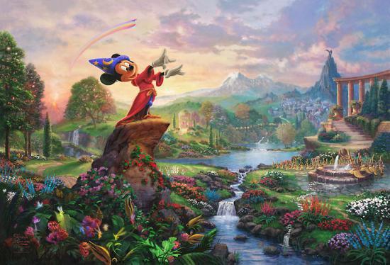 ディズニーアート 限定 ジークレー版画 ファンタジア Fantasia 24x36