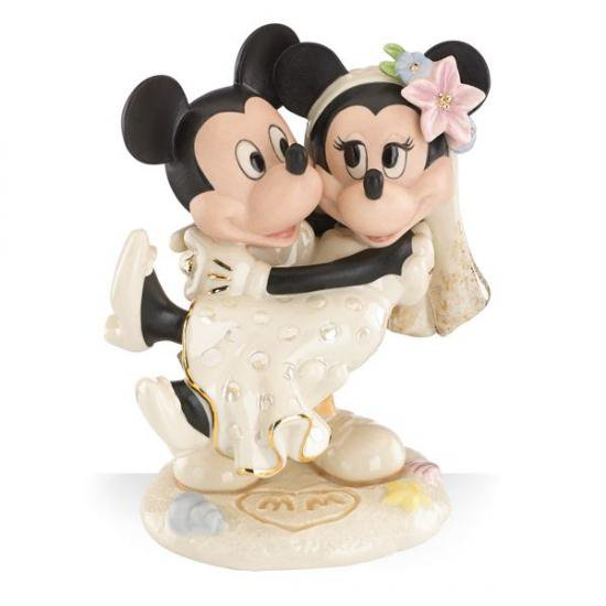 ミッキー&ミニーマウス 夢のビーチウエディング Minnie's Dream Beach Wedding Figurine by Lenox