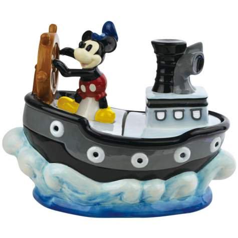 """ディズニー ミッキーマウス スチームボート・ウイリー""""Steamboat Willie Cookie Jar"""" クッキージ…"""