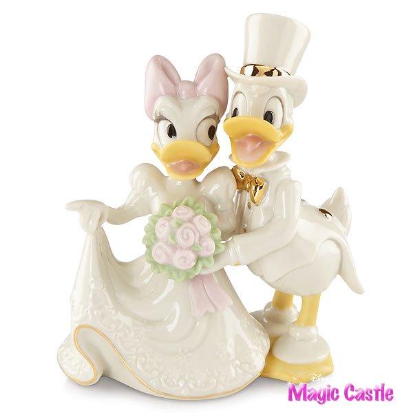 ディズニー ドナルドダック&デイジー ウェディングフィギュア Donald Duck , Daisy\u0027s Dream Wedding by Lenox
