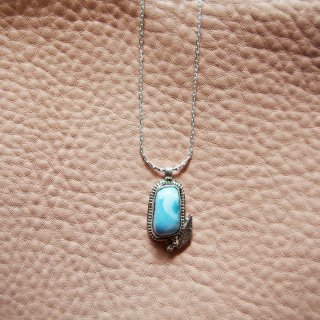 LARIMAR leaf Necklace