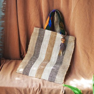 Raffia Bag  /HAWAIIAN VINTAGE CLOTH