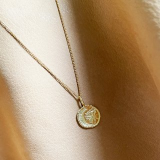 Moon Star coin Necklace