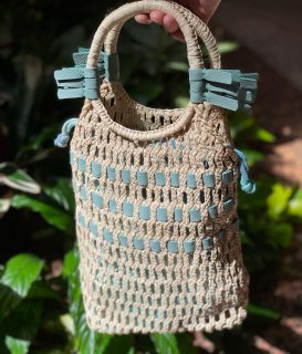 Pineapple raffia bag