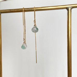 Color stone American earrings TOURMALINE