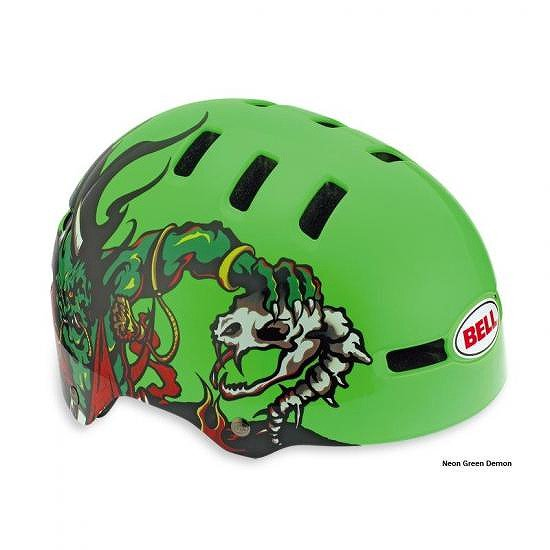 Bell Fraction Youth Helmet 2011 ベル フラクションヘルメット48-53cm XSmall - Neon Green Demon子供用