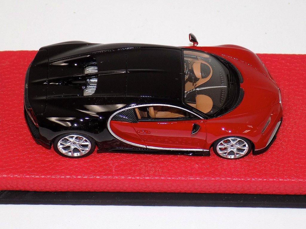 1/43 looksmart bugatti chiron nocturne / italian red - 【mr bbr