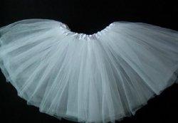 大人バレエ用 チュチュボン ホワイト (フリーサイズ)の写真