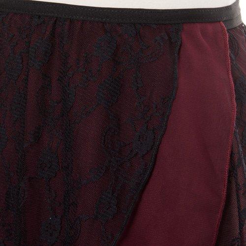 大人用バレエ巻きスカート レース ワインレッド (フリーサイズ)の詳細写真06