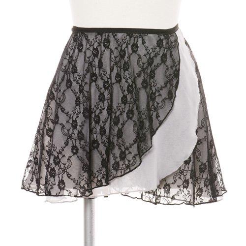 ラベルフェ 大人用バレエ巻きスカート レース グレー (フリーサイズ)