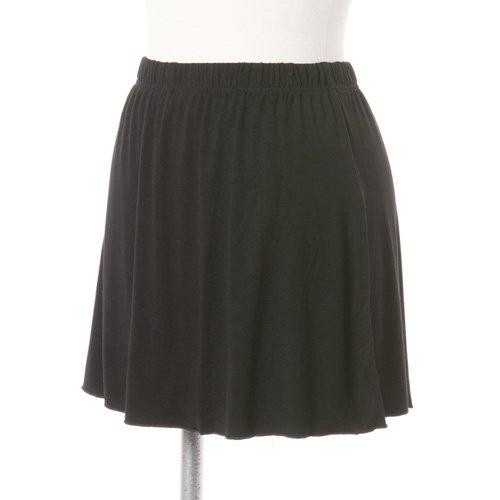 大人用スリットスカート付きバレエショートパンツ ブラック (XLサイズ)の写真