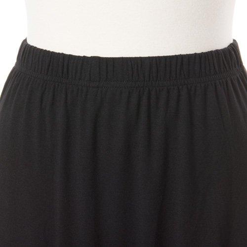 大人用スリットスカート付きバレエショートパンツ ブラック (XLサイズ)の詳細写真04