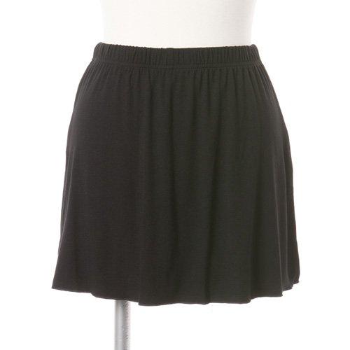 大人用スリットスカート付きバレエショートパンツ ブラック (XXLサイズ)の写真