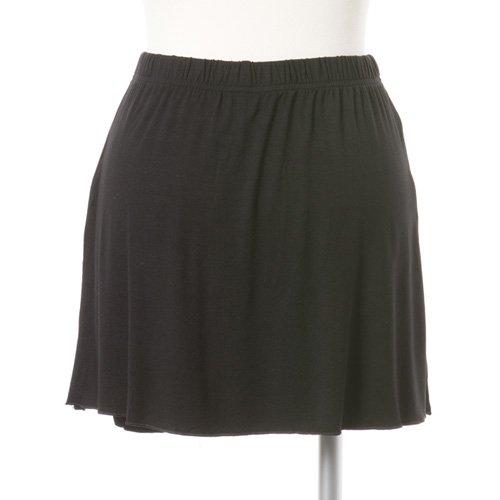 大人用スリットスカート付きバレエショートパンツ ブラック (XXLサイズ)の後ろからの写真