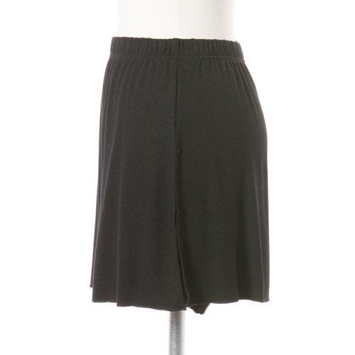大人用スリットスカート付きバレエショートパンツ ブラック (XXLサイズ)の詳細写真02