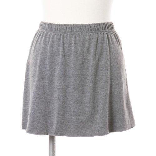 大人用スリットスカート付きバレエショートパンツ グレー (XLサイズ)の写真