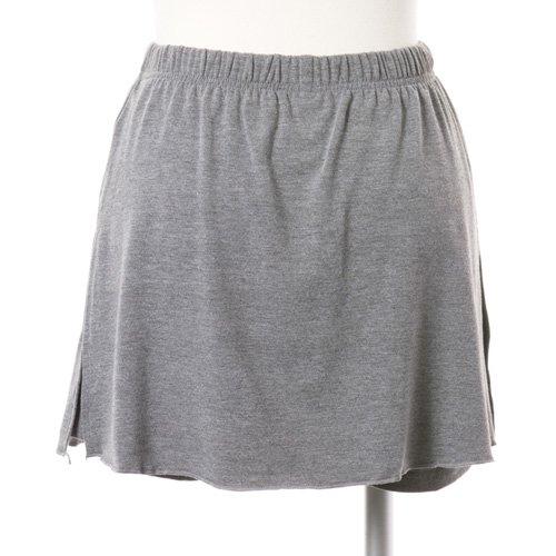 大人用スリットスカート付きバレエショートパンツ グレー (XLサイズ)の後ろからの写真