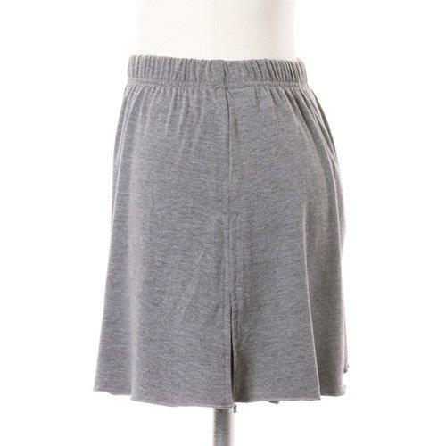 大人用スリットスカート付きバレエショートパンツ グレー (XLサイズ)の詳細写真02