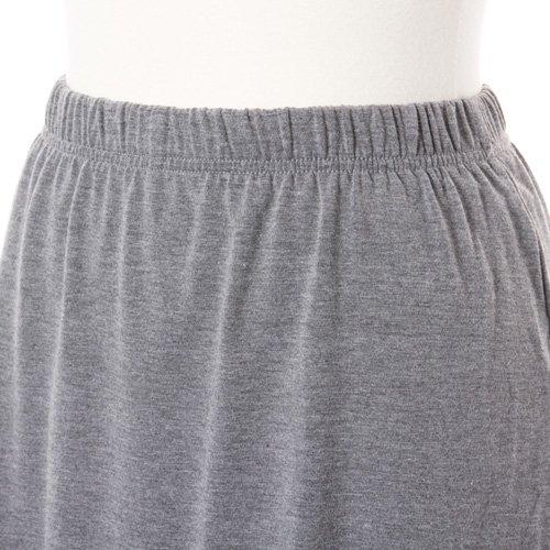 大人用スリットスカート付きバレエショートパンツ グレー (XLサイズ)の詳細写真04