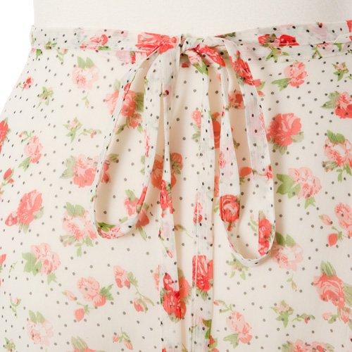 大人用バレエ巻きスカート 花柄シフォン ホワイト(フリーサイズ)の詳細写真03