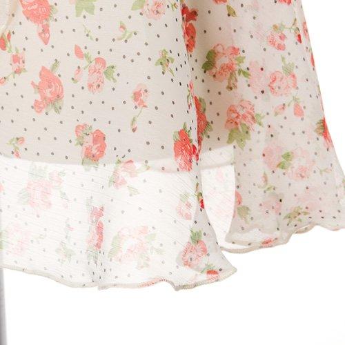 大人用バレエ巻きスカート 花柄シフォン ホワイト(フリーサイズ)の詳細写真04