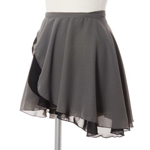 大人用リバーシブルバレエ巻きスカート ブラックグレー (フリーサイズ)の写真