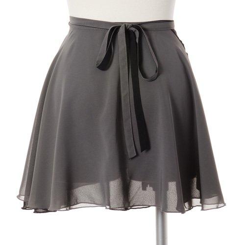 大人用リバーシブルバレエ巻きスカート ブラックグレー (フリーサイズ)の後ろからの写真