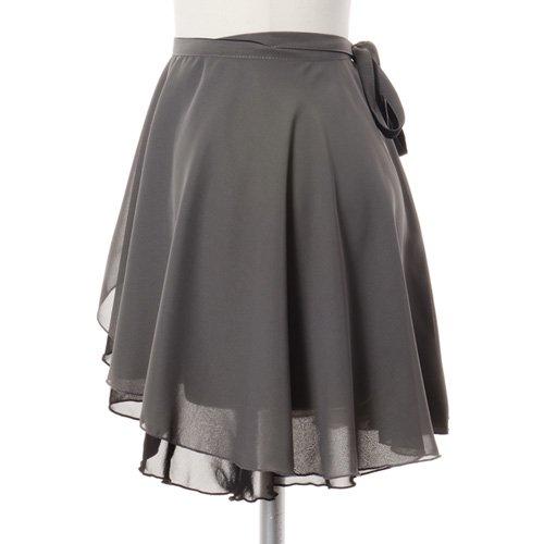 大人用リバーシブルバレエ巻きスカート ブラックグレー (フリーサイズ)の詳細写真02