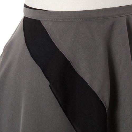 大人用リバーシブルバレエ巻きスカート ブラックグレー (フリーサイズ)の詳細写真03