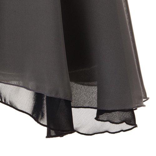 大人用リバーシブルバレエ巻きスカート ブラックグレー (フリーサイズ)の詳細写真04