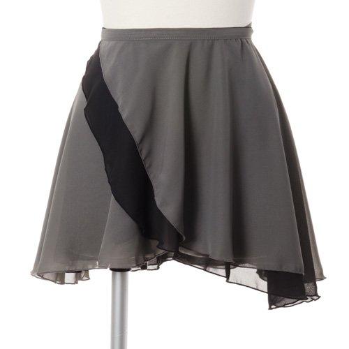 大人用リバーシブルバレエ巻きスカート ブラックグレー (フリーサイズ)の詳細写真05