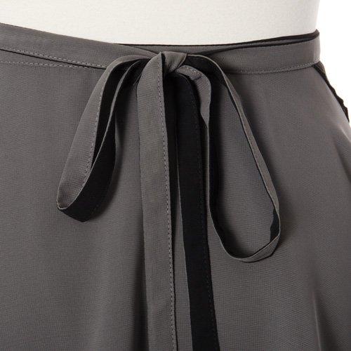 大人用リバーシブルバレエ巻きスカート ブラックグレー (フリーサイズ)の詳細写真07
