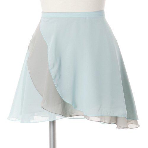 大人用リバーシブルバレエ巻きスカート ベビーブルーグレー (フリーサイズ)