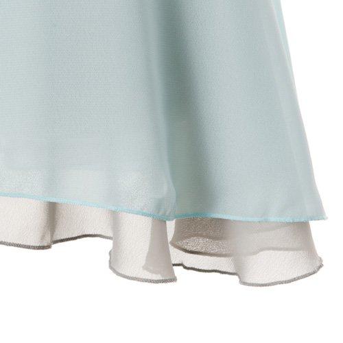 大人用リバーシブルバレエ巻きスカート ベビーブルーグレー (フリーサイズ)の詳細写真05