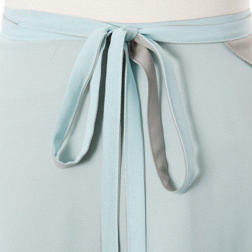 大人用リバーシブルバレエ巻きスカート ベビーブルーグレー (フリーサイズ)の詳細写真06