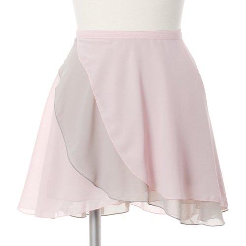 大人用リバーシブルバレエ巻きスカート ライトピンクグレー (フリーサイズ)の写真