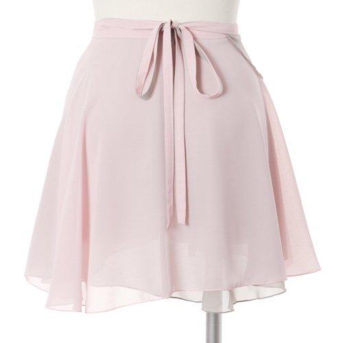 大人用リバーシブルバレエ巻きスカート ライトピンクグレー (フリーサイズ)の後ろからの写真
