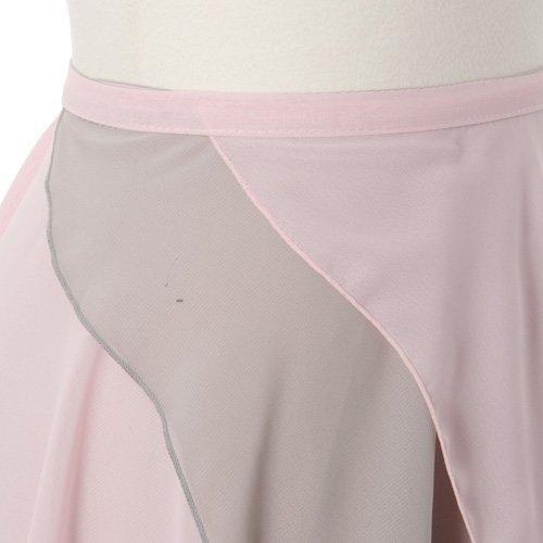 大人用リバーシブルバレエ巻きスカート ライトピンクグレー (フリーサイズ)の詳細写真05